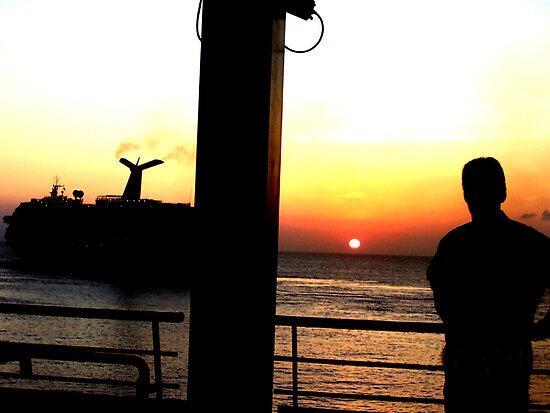 Caribbean Sunset by Al Bourassa