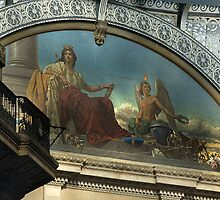 CLOSE-UP OF MURAL @ GALLERIA VITTORIO EMANUELE II, MILAN, ITALY by Edward J. Laquale