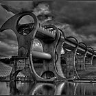 Falkirk Wheel in mono by dittohead