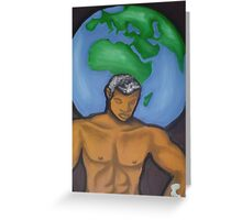 The Weight Of The World On One Man's Shoulders Greeting Card