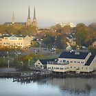 Sunrise over Charlottetown Harbour by Dohmnuill
