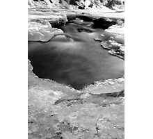 Bear Creek on ice Photographic Print