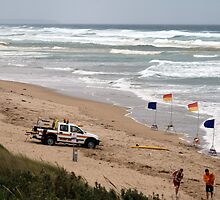 Surf Rescue at Venus Bay by Lee Revell