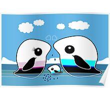 Paradise Penguin Family Poster