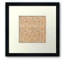 Hieroglyphic Alphabet Framed Print