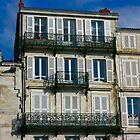 Houses on the Port of La Rochelle by Pamela Jayne Smith