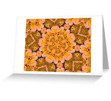 Yellow Rubber Ducky Kaleidoscope Greeting Card