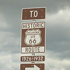 On the famous Route 66 in Oklahoma by waverunner
