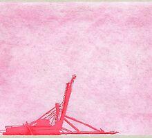 Giant Crane on Puget Sound, Seattle by Jon Mann