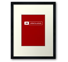 SLIDE TO UNLOCK Framed Print