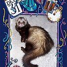 Happy New Year Ferret!! by Glenna Walker