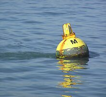 A water buoy in the blue water of San Francisco Bay by ashishagarwal74
