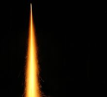 The flames of a Diwali rocket by ashishagarwal74