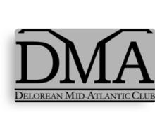 DeLorean Mid-Atlantic Official Logo Black Canvas Print