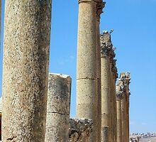 Pillars of Jerash by SusanGBurns