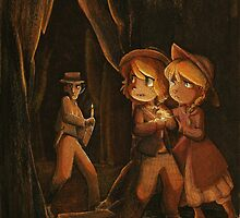 Tom Sawyer and Becky Thatcher by huckly