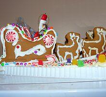 Gingerbread Santa and Reindeer by MaeBelle