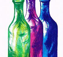 Multicolour Bottles by Teresa White