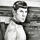 Spock Watercolor by OlechkaDesign