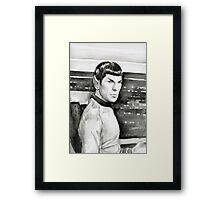Spock Watercolor Framed Print