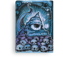 Cthonic Temple Smoke Canvas Print