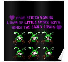 commander keen green two headed alien  Poster