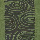 Whorls - green fibers by Stacie Arellano