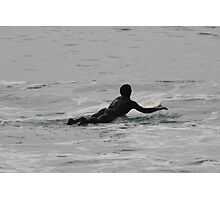 Redondo Beach surfing stance Photographic Print