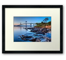 Newport Bridge Sunrise from Taylor Point Framed Print