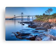 Newport Bridge Sunrise from Taylor Point Metal Print