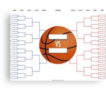 March Madness Basketball Bracket Chart Canvas Print