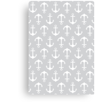 Anchors Away - gray Canvas Print
