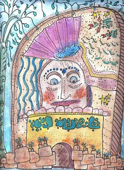Mayan Stela by Kamalanirose
