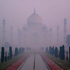 Taj through the mist by Jeff Barnard