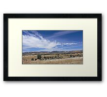 To the Hills Framed Print