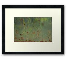 Rusty Bubbles Framed Print