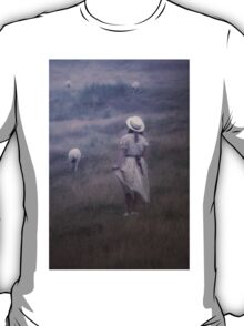 the girl and the sheep T-Shirt