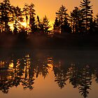 Morning on Tanker Lake  by Bill Spengler