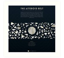 Ceres and the asteroid belt Art Print