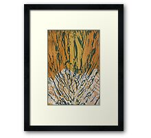 Collograph: Nature and Nurture Framed Print