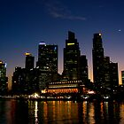 Singapore at night by C1oud