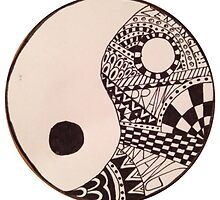 Zentangle Yin and Yang by sallysartwork