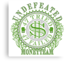 Undefeated Boxing Champ MoneyTeam 47-0 Canvas Print