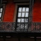 Cast Iron on Brick: Beacon Hill, Boston MA  by Rebecca Bryson