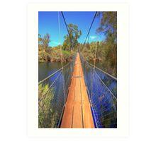 York Suspension Bridge Art Print