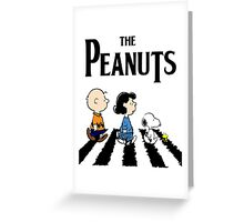 Peanuts Beatles Greeting Card