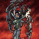 Flamethrower Guitar 001 by Ian Sokoliwski