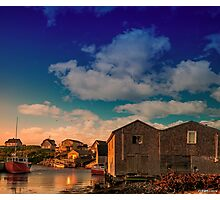 Sunset at Peggy's Cove 05 Photographic Print