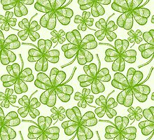 Seamless clovers pattern by SIR13