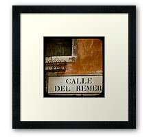 MERCHANT OF VENICE - A Random Alley Framed Print